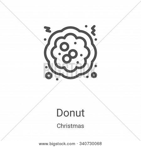 donut icon isolated on white background from christmas collection. donut icon trendy and modern donu