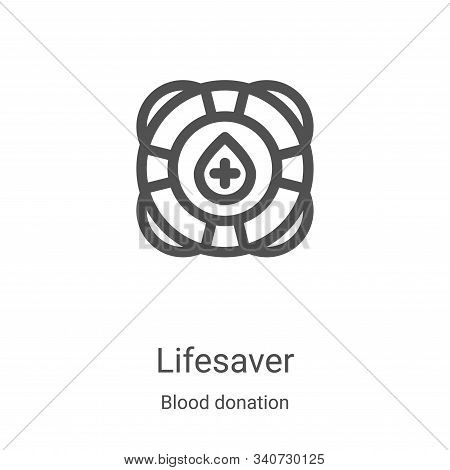 lifesaver icon isolated on white background from blood donation collection. lifesaver icon trendy an