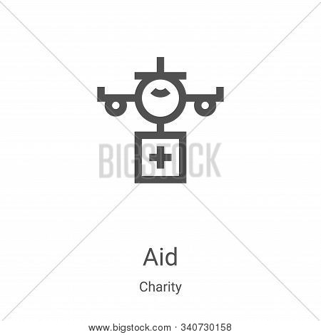 aid icon isolated on white background from charity collection. aid icon trendy and modern aid symbol