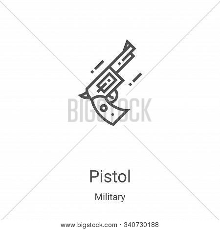 pistol icon isolated on white background from military collection. pistol icon trendy and modern pis