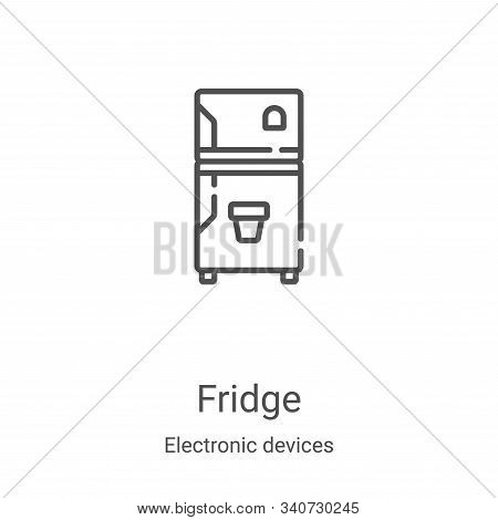 fridge icon isolated on white background from electronic devices collection. fridge icon trendy and