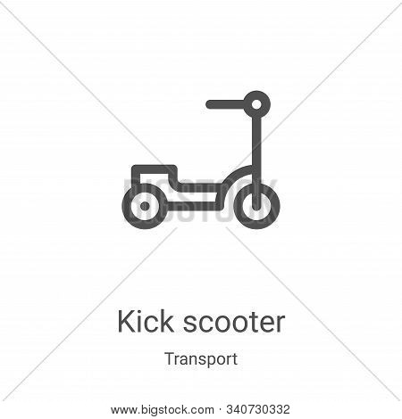 kick scooter icon isolated on white background from transport collection. kick scooter icon trendy a