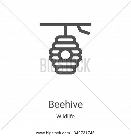 beehive icon isolated on white background from wildlife collection. beehive icon trendy and modern b