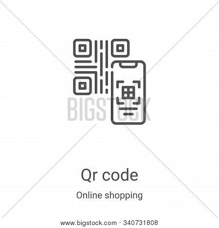 qr code icon isolated on white background from online shopping collection. qr code icon trendy and m