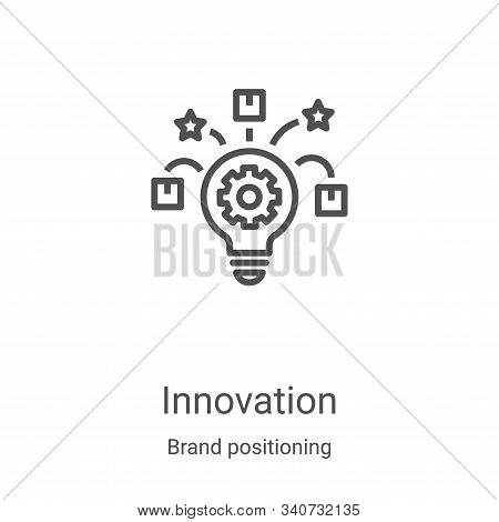 innovation icon isolated on white background from brand positioning collection. innovation icon tren