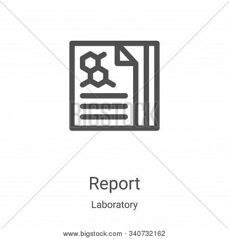 report icon isolated on white background from laboratory collection. report icon trendy and modern r