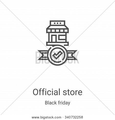 official store icon isolated on white background from black friday collection. official store icon t