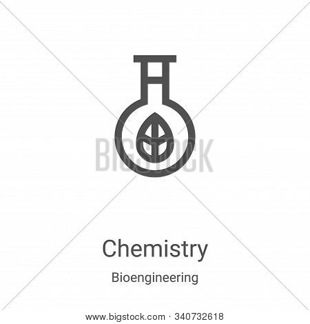 chemistry icon isolated on white background from bioengineering collection. chemistry icon trendy an