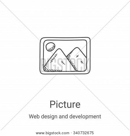 picture icon isolated on white background from web design and development collection. picture icon t