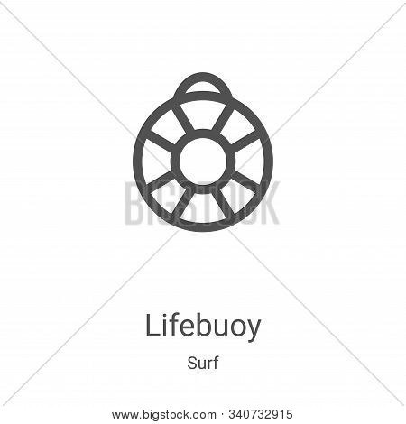 lifebuoy icon isolated on white background from surf collection. lifebuoy icon trendy and modern lif