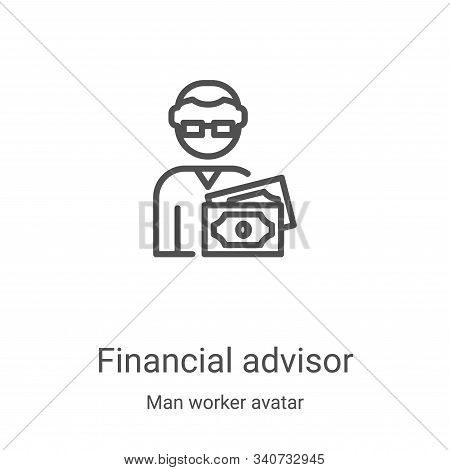 financial advisor icon isolated on white background from man worker avatar collection. financial adv