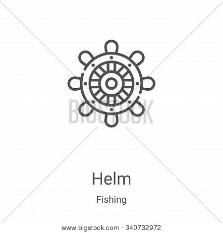 helm icon isolated on white background from fishing collection. helm icon trendy and modern helm sym
