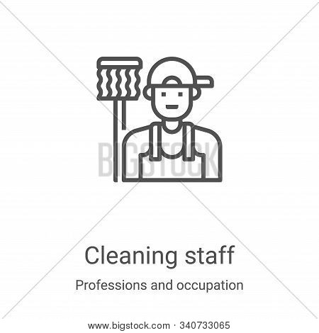 cleaning staff icon isolated on white background from professions and occupation collection. cleanin