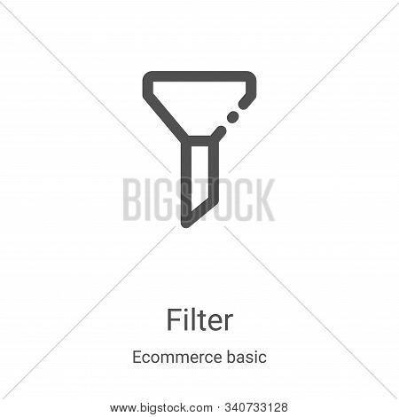 filter icon isolated on white background from ecommerce basic collection. filter icon trendy and mod