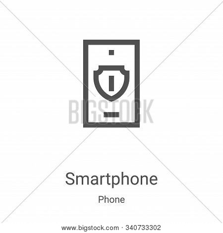 smartphone icon isolated on white background from phone collection. smartphone icon trendy and moder