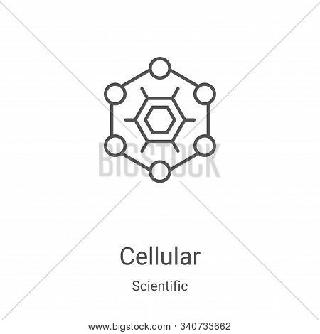 cellular icon isolated on white background from scientific collection. cellular icon trendy and mode