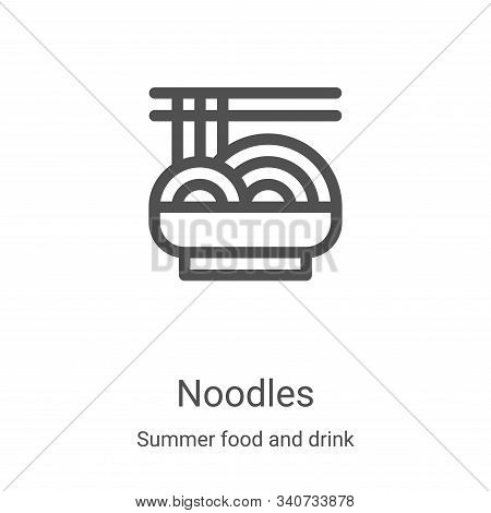 noodles icon isolated on white background from summer food and drink collection. noodles icon trendy