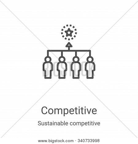 Competitive icon isolated on white background from sustainable competitive advantage collection. Com