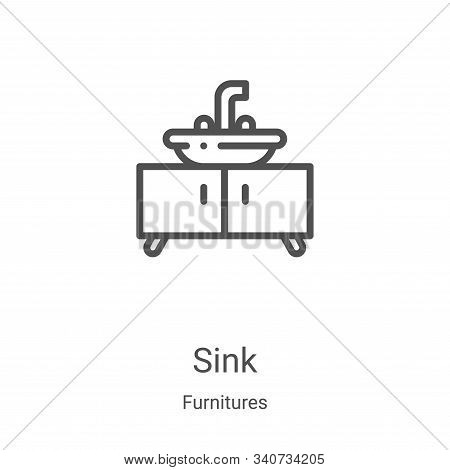 sink icon isolated on white background from furnitures collection. sink icon trendy and modern sink