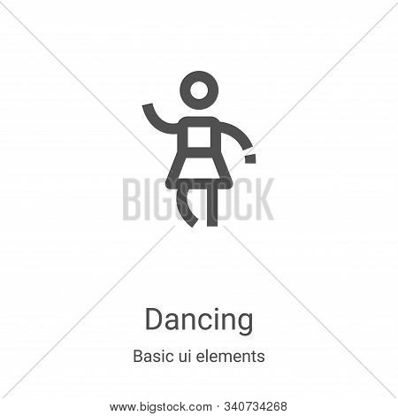 dancing icon isolated on white background from basic ui elements collection. dancing icon trendy and
