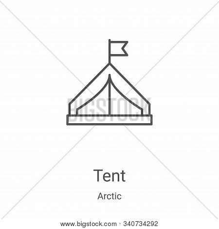 tent icon isolated on white background from arctic collection. tent icon trendy and modern tent symb