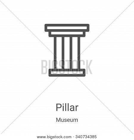pillar icon isolated on white background from museum collection. pillar icon trendy and modern pilla