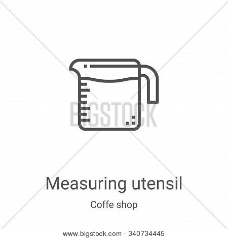 measuring utensil icon isolated on white background from coffe shop collection. measuring utensil ic
