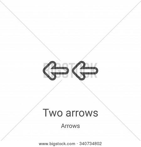 two arrows icon isolated on white background from arrows collection. two arrows icon trendy and mode