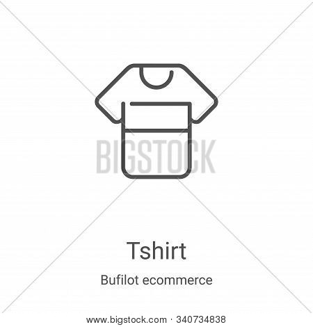 tshirt icon isolated on white background from bufilot ecommerce collection. tshirt icon trendy and m