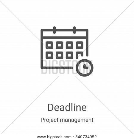 deadline icon isolated on white background from project management collection. deadline icon trendy