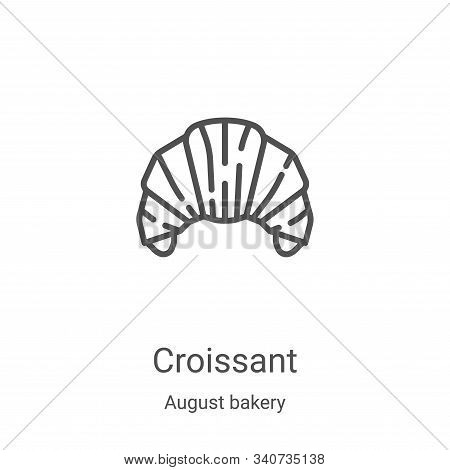 croissant icon isolated on white background from august bakery collection. croissant icon trendy and