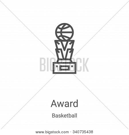award icon isolated on white background from basketball collection. award icon trendy and modern awa