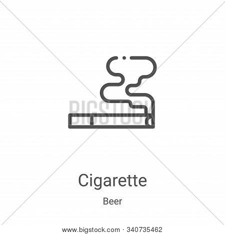 cigarette icon isolated on white background from beer collection. cigarette icon trendy and modern c