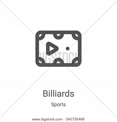 billiards icon isolated on white background from sports collection. billiards icon trendy and modern