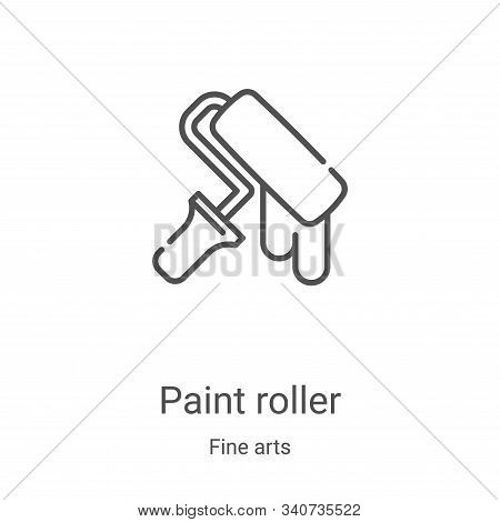 paint roller icon isolated on white background from fine arts collection. paint roller icon trendy a