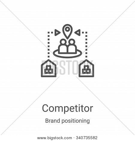 competitor icon isolated on white background from brand positioning collection. competitor icon tren