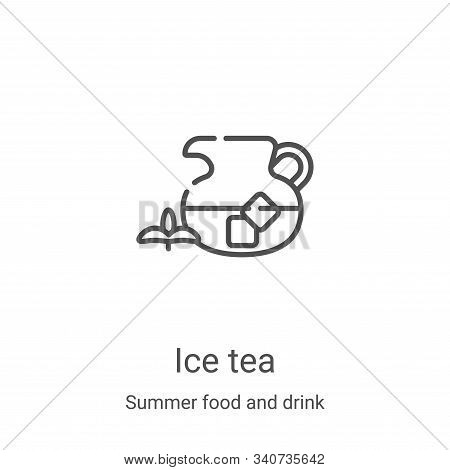 Ice Tea icon isolated on white background from summer food and drink collection. Ice Tea icon trendy