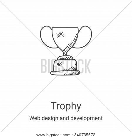 trophy icon isolated on white background from web design and development collection. trophy icon tre