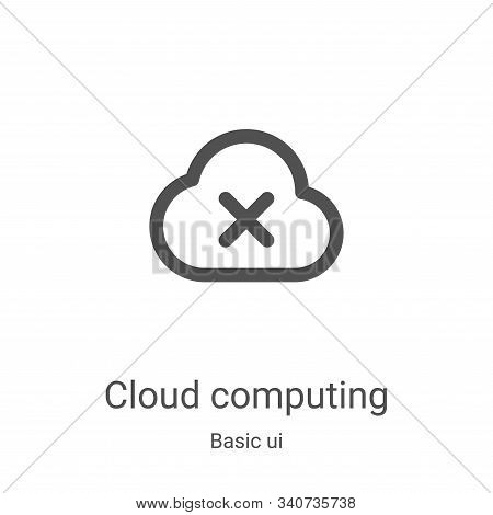 cloud computing icon isolated on white background from basic ui collection. cloud computing icon tre