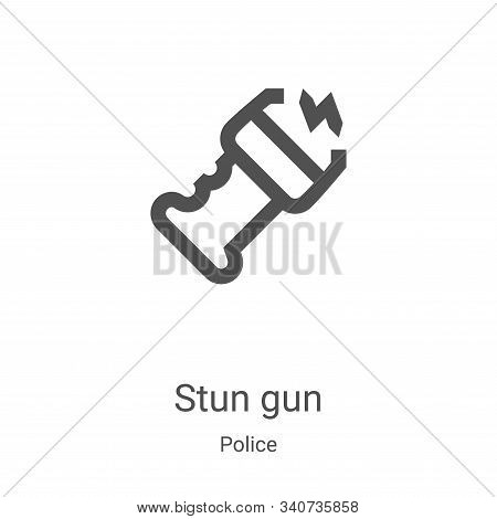 stun gun icon isolated on white background from police collection. stun gun icon trendy and modern s