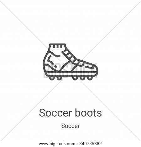 soccer boots icon isolated on white background from soccer collection. soccer boots icon trendy and