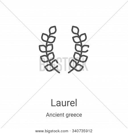 laurel icon isolated on white background from ancient greece collection. laurel icon trendy and mode
