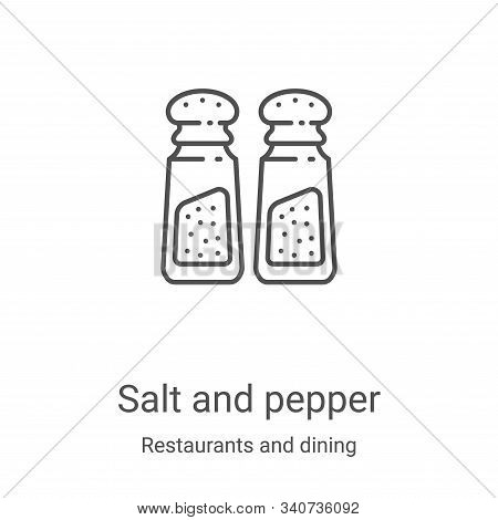 salt and pepper icon isolated on white background from restaurants and dining collection. salt and p