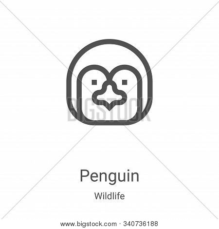penguin icon isolated on white background from wildlife collection. penguin icon trendy and modern p