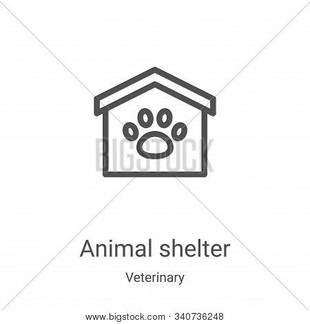 animal shelter icon isolated on white background from veterinary collection. animal shelter icon tre