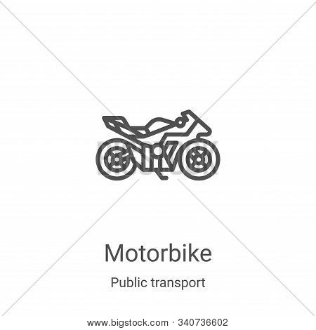 motorbike icon isolated on white background from public transport collection. motorbike icon trendy