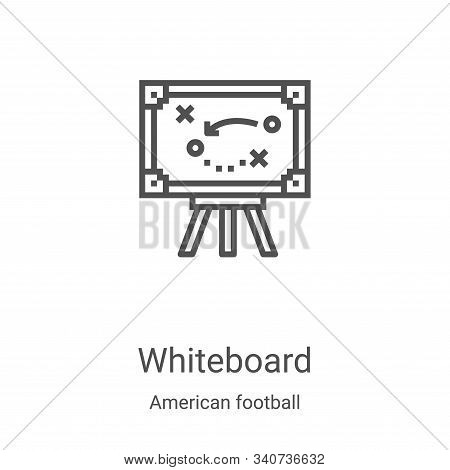 whiteboard icon isolated on white background from american football collection. whiteboard icon tren