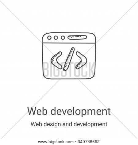 web development icon isolated on white background from web design and development collection. web de