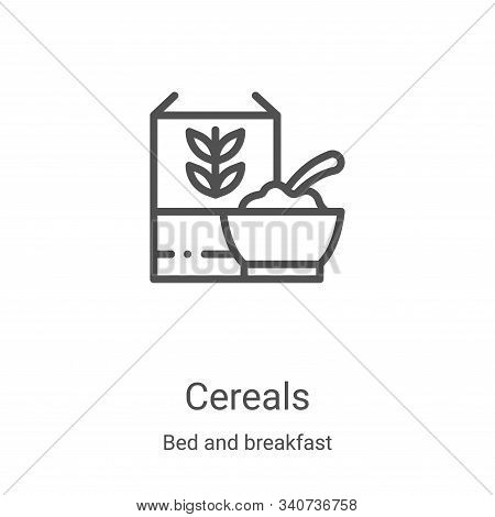cereals icon isolated on white background from bed and breakfast collection. cereals icon trendy and