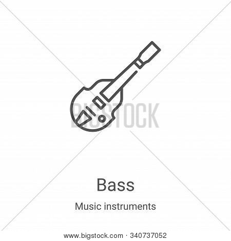 bass icon isolated on white background from music instruments collection. bass icon trendy and moder